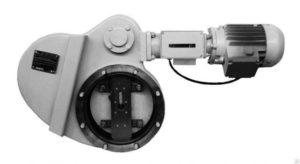 Затвор вакуумный электроповоротный 220В