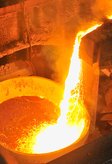 Проведение дегазации в литейном цеху
