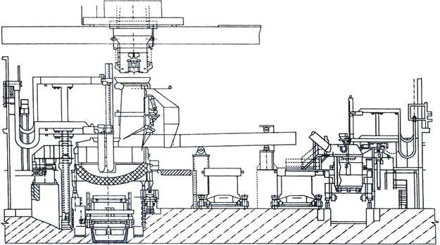 Схема расположения дуговой печи