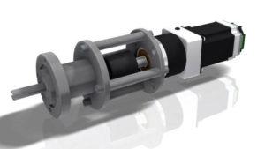 Вакуумный ввод вращения с магнитным уплотнителем