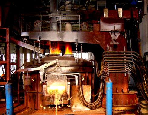 Процесс работы дуговой сталеплавильной печи