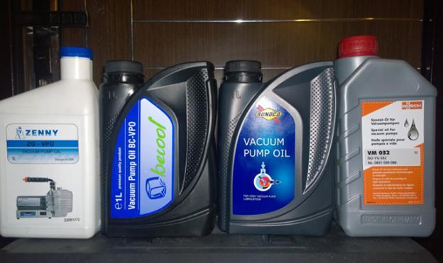 Разные марки вакуумного масла