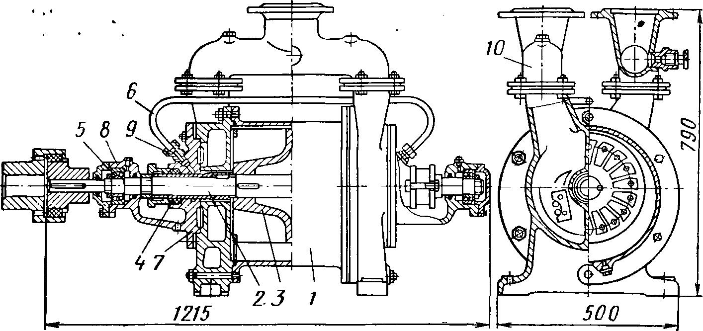 Схема водокольцевого насоса BBH 1-3